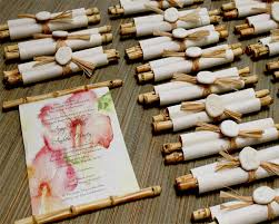 scroll wedding programs bamboo scroll wedding invitation designs by lenila wedding