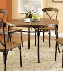 Industrial Style Furniture by Metal And Wood Round Dining Table Of Furniture America Cmrt Crosby