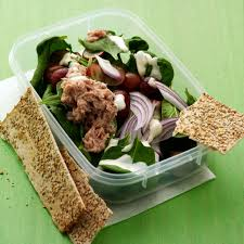 Tuna Salad Mediterranean Style Baby Spinach Salad With Tuna