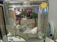 How To Decorate Glass Blocks Glass Block Frame I Can Use Our Shells Things To Make