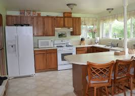 Painting Wooden Kitchen Cabinets by How To Update Oak Kitchen Cabinets Without Painting Monsterlune