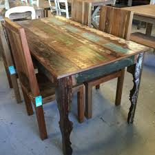 Distressed Dining Set Dining Tables Reclaimed Wood Restaurant Table Tops Rectangular