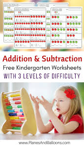 kindergarten math worksheets pdf addition and subtraction to 10