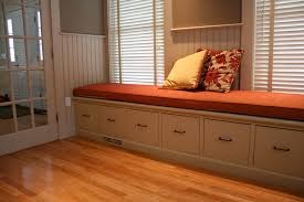 Built In Bench Seat With Storage Bench Excellent Cabinets And Storage At Your Desk In File Cabinet
