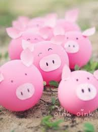 pig balloons birthday party ideas for kids balloon garland garlands and pig