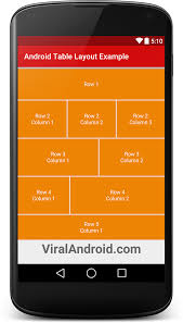 android layout android table layout exle viral android tutorials exles