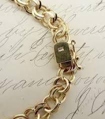 gold charm link bracelet images Vintage 14k gold starter charm bracelet double figure eight cuban jpg