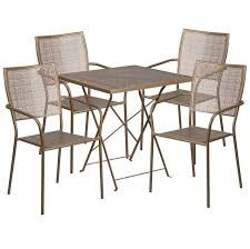 Folding Patio Table And Chair Set Flash Furniture 28 Square Indoor Outdoor Steel Folding Patio