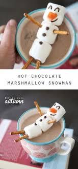 snowman marshmallows marshmallow snowman make a hot chocolate buddy craft activities