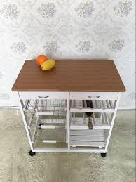 mdf kitchen trolley island dining cart worktop basket storage