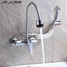 wall faucets kitchen wall faucet kitchen faucet mixer three way chrome brass kitchen