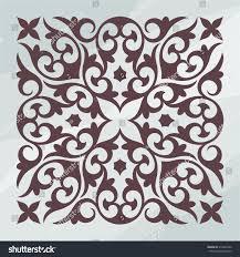ornamental design element silhouette style on stock vector