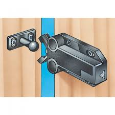 hidden magnetic cabinet locks safe push touch latches select size and color rockler woodworking