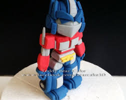 optimus prime cake topper custom cake topper optimus prime his fiance