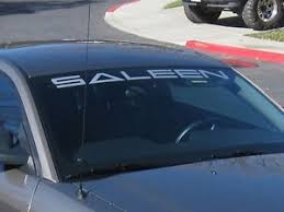 mustang windshield decal saleen mustang windshield hi temp vinyl decal any color