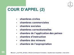 chambre d application des peines module 1 justice 2010 1 cncej commission formation qualité dans