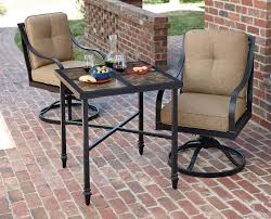 Sears Patio Furniture Replacement Cushions by La Z Boy Outdoor Charlotte 3pc Bistro Set