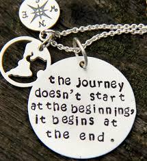 inspirational quote journey world necklace inspiration graduation gift journey begins