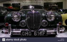 jaguar classic old jaguar classic car at the coventry motor museum stock photo