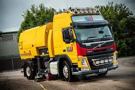 volvo lorries uk volvo u0027super sweeper u0027 clears the way for wj wj uk road marking