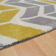Yellow And Gray Rugs Yellow And Grey Chevron Rug Roselawnlutheran