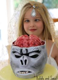 Halloween Brain Cake by Bubble And Sweet Monkey Brain Cake With Jelly Brain Tutorial