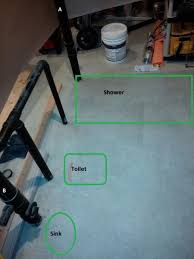 Plumbing Basement Bathroom Rough In Basement Bathroom Rough In Pipe Routing Pictures Doityourself