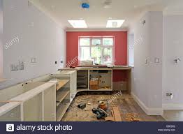 kitchen cabinets wall extension kitchen cabinets being installed in new extension to