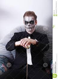 men halloween makeup man halloween stock photo image 58470745