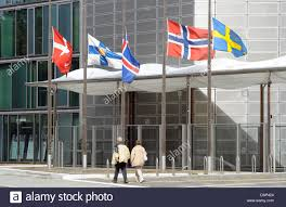 the flags of denmark l r finland iceland norway and sweden