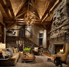 Vaulted Great Room Rustic Family Room Denver By Highline - Great family rooms
