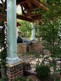 front porch column ideas exterior traditional with bay window