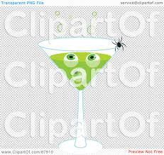 martini clip art png royalty free rf clipart illustration of a spider crawling on a
