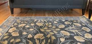 Pottery Barn Adeline Rug Pottery Barn Adeline Rug Blue 3x5 Floral Leaves Tufted Wool