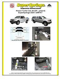nissan frontier airbag light supersprings nissan frontier helper springs w 800 lbs capacity