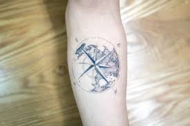 compass tattoo under breast dotwork tattoo compass and earth best tattoo ideas gallery