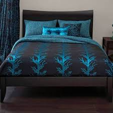 michael payne whistle creek black turquoise down comforter with