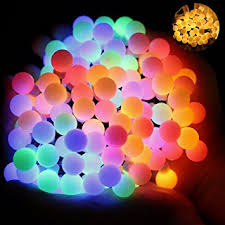 Outdoor Home Lighting Amazon Com Ball Fairy Lights Omgai 17ft 60 Led Waterproof Color
