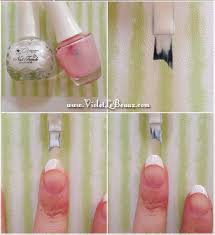 how to do easy french nails violet lebeaux tales of an ingenue