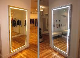 light up full length mirror icon international scenesetter triple lighting mode fitting room