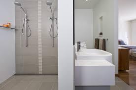 Modern Ensuite Bathroom Designs Clever Floor Plan With A Gutsy Tiling Scheme Bubbles Bathrooms
