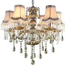 Chandelier With Black Shades Mini Crystal Chandelier With Drum Shade Crystal Chandelier With