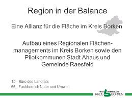 region in der balance eine allianz für die fläche im kreis borken - Formel Fl Che Kreis