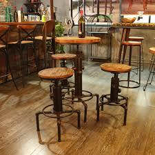 round bar table and stools wood ikayaa pinewood top round pub bar table lovdock com