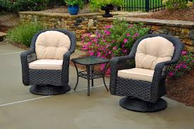 Wicker Bistro Chairs Tortuga Outdoor Biloxi 3 Swivel Patio Bistro