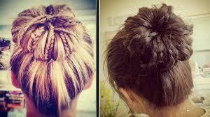 howtododoughnut plait in hair braided sock bun updo hair tutorial youtube