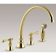 Polished Brass Kitchen Faucets by Kohler Kitchen Brass Widespread Home Faucets Ebay