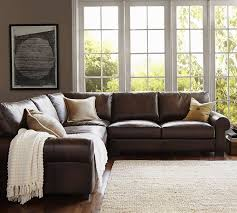 Pottery Barn Furniture Best 25 Pottery Barn Leather Sofa Ideas On Pinterest Brown