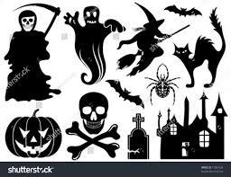 big halloween collection bat pumpkin witch stock vector 17067538