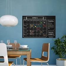 kitchen chalkboard wall ideas amazon com large erasable chalkboard calendar wall decal sticker